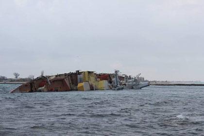 Một con tàu đắm bắt sống nửa hạm đội Ukraine
