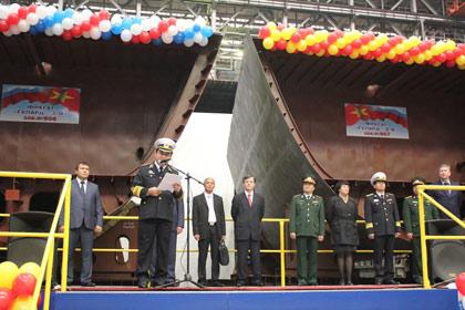 Lễ khởi đóng 2 tàu Gepard-3.9 của Hải quân Việt Nam